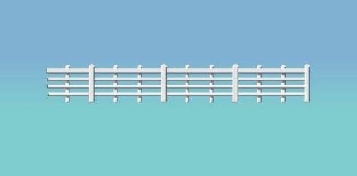 White lineside fencing